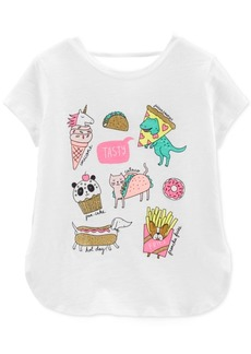Carter's Little Girls Pizza Graphic Cotton Top