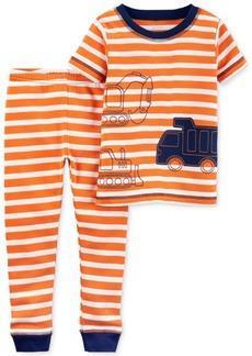 Carter's Little Planet Organics 2-Pc. Construction Trucks Cotton Pajama Set, Baby Boys