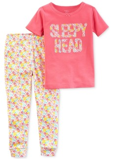 Carter's Little Planet Organics 2-Pc. Sleepy Head Cotton Pajama Set, Baby Girls