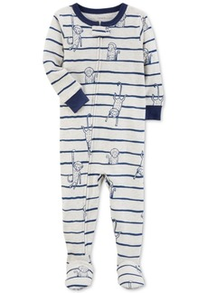 Carter's Monkey Stripe Footed Cotton Pajamas, Baby Boys