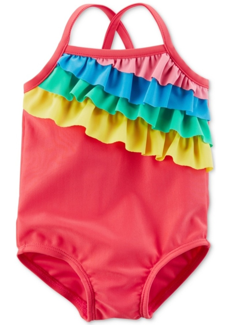 a9bf7793bb48b Carter's Carter's Rainbow Ruffle Swimsuit, Baby Girls | Swimwear