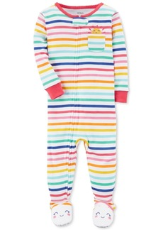 Carter's Rainbow Stripe Footed Cotton Pajamas, Baby Girls
