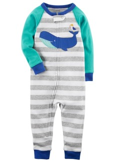 Carter's Striped Whale Cotton Pajamas, Toddler Boys