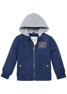 Carter's Toddler & Little Boys Layered-Look Hooded Varsity Jacket