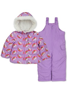 Carter's Toddler & Little Girls Unicorn-Print Jacket & Snowbib Snowsuit