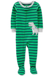 Carter's Toddler Boys 1-Pc. Cotton Striped Dinosaur Footie Pajama