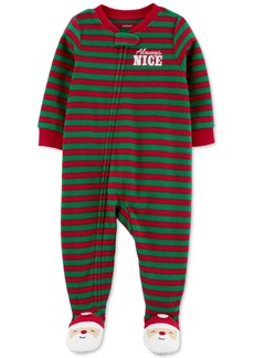 Carter's Toddler Boys 1-Pc. Fleece Footed Always Nice Santa Pajama