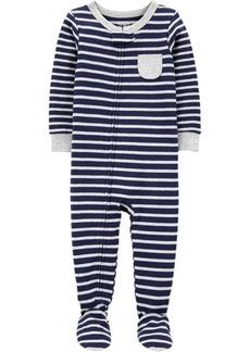 Carter's Toddler Boys 1-Piece Striped Snug Fit Cotton Footie PJs