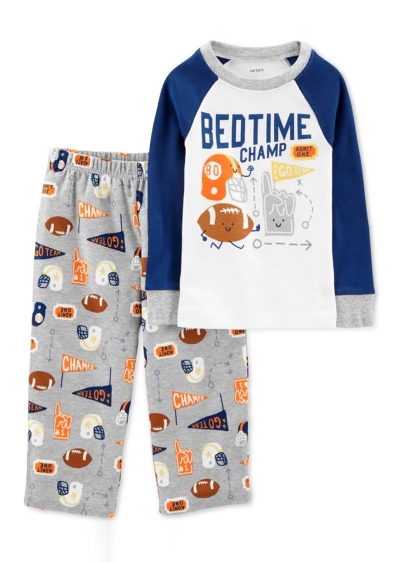 7073fb836 Carter s Carter s Toddler Boys 2-Pc. Bedtime Champ Pajama Set ...