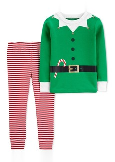 Carter's Toddler Boys 2-Pc. Cotton Elf Pajama Suit Set