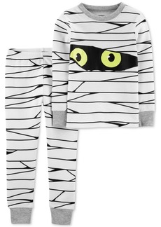Carter's Toddler Boys 2-Pc. Cotton Glow-In-The-Dark Mummy Pajama Set