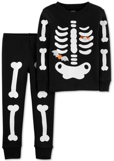 Carter's Toddler Boys 2-Pc. Cotton Glow-In-The-Dark Skeleton Pajama Set