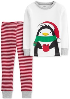 Carter's Toddler Boys 2-Pc. Cotton Holiday Penguins Pajamas Set