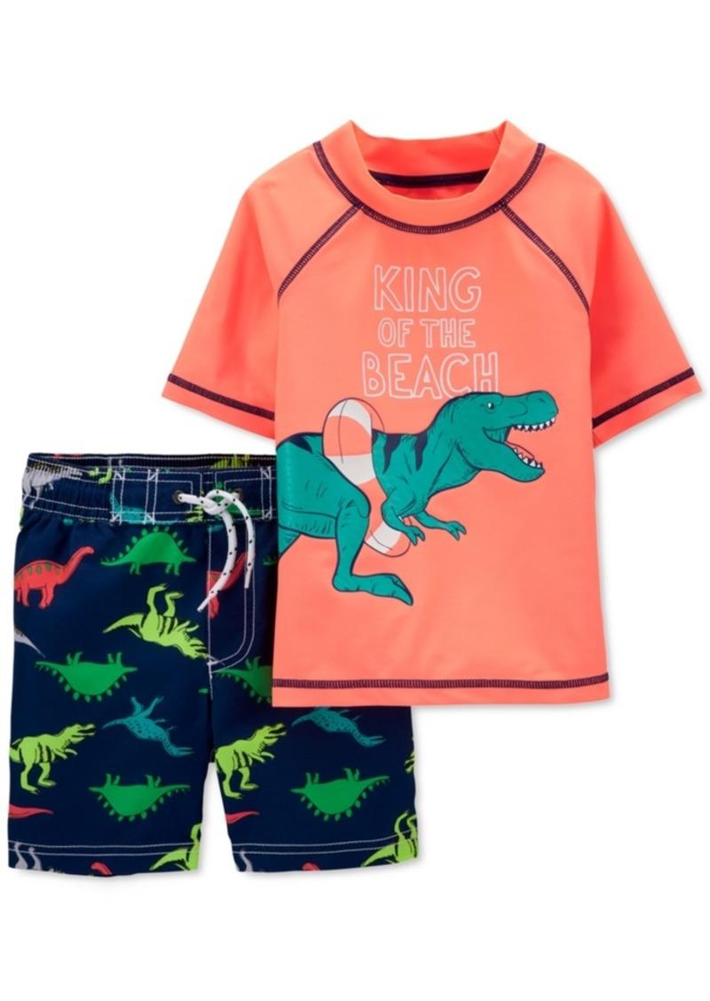 Carters Toddler Boys T-Rex Beach Shorts Set