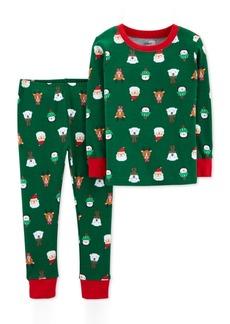 Carter's Toddler Boys 2-Pc. Snug-Fit Cotton Holiday-Print Pajamas