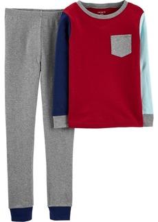Carter's Toddler Boys 2-Piece Colorblock Snug Fit Cotton PJs