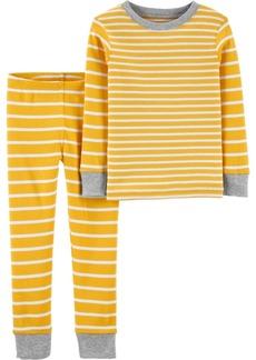 Carter's Toddler Boys 2-Piece Striped Snug Fit Cotton PJs
