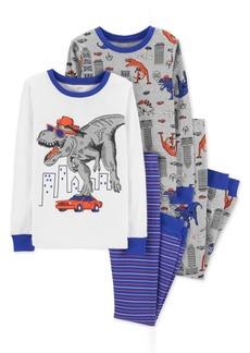 Carter's Toddler Boys 4-Pc. Cotton Dinosaur Pajama Set