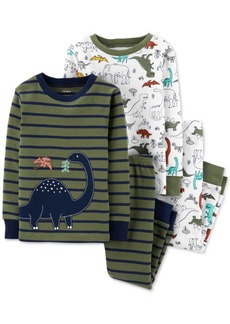 Carter's Toddler Boys 4-Pc. Cotton Dinosaur Pajamas Set