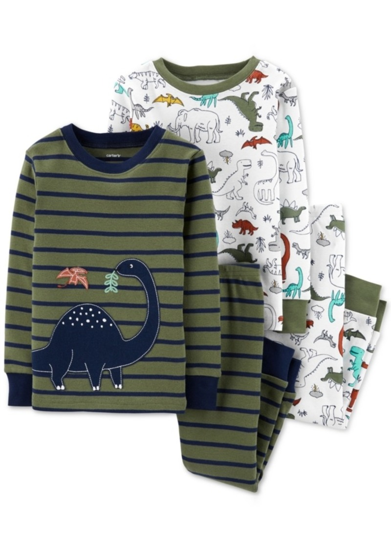 Carter's Toddler Boys 4-Pc. Cotton Dinosaur Pajamas Set
