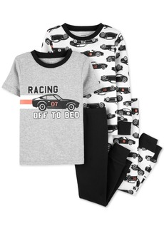 Carter's Toddler Boys 4-Pc. Cotton Racing Pajama Set