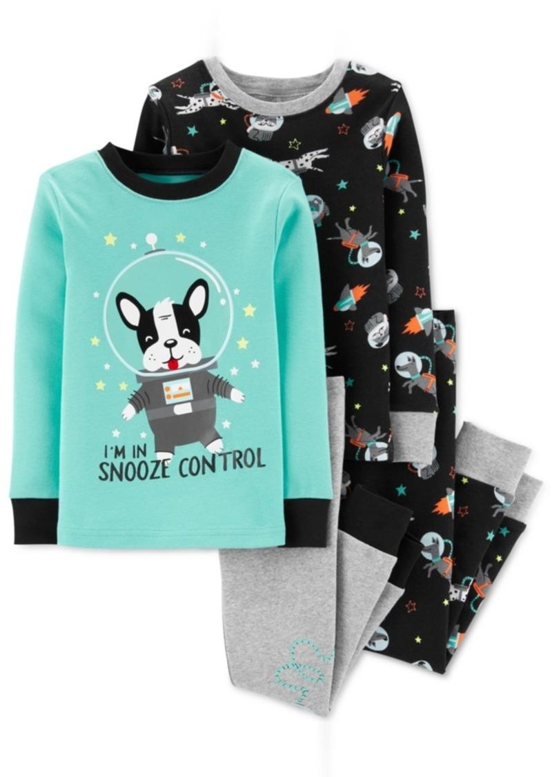 Carter's Toddler Boys 4-Pc. Cotton Space Frenchie Pajamas Set