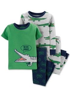 Carter's Toddler Boys 4-Pc. Gator-Print Cotton Pajamas Set