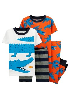 Carter's Toddler Boys 4 Piece Alligator Snug Fit Pajama Set