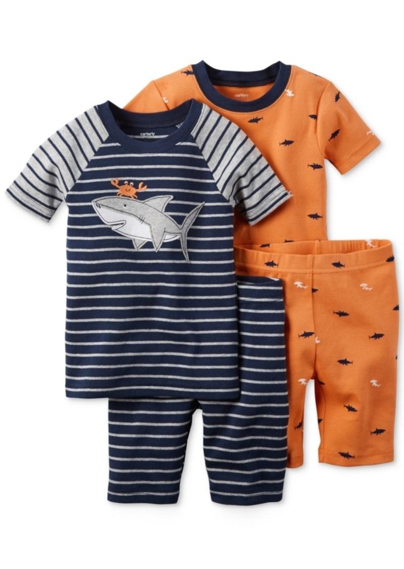 carter s carter s toddler boys piece crab shark pajama set carter s toddler boys 4 piece crab shark pajama set