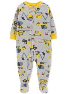 Carter's Toddler Boys Construction-Print Footed Pajamas