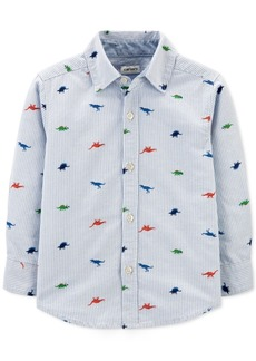 Carter's Toddler Boys Cotton Striped Dinosaur-Print Oxford Shirt