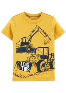 Carter's Toddler Boys Dig-Print Cotton T-Shirt