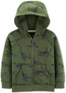 Carter's Toddler Boys Dinosaur-Print Zip-Up Fleece Hoodie