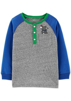 Carter's Toddler Boys Dog-Print Henley T-Shirt