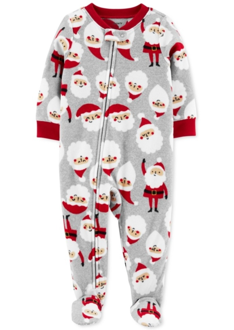 Carter's Toddler Boys Fleece Footed Santa Pajamas