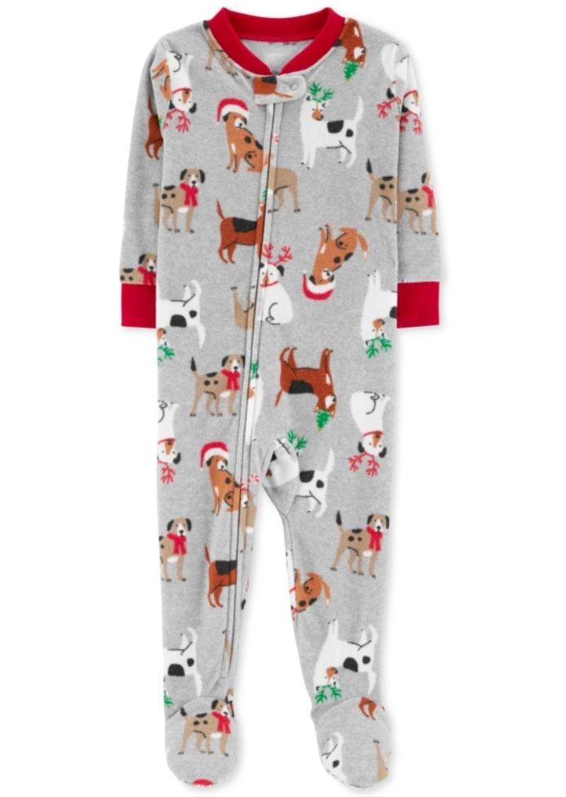 13c8f1fc7 Carter s Carter s Toddler Boys Holiday Dog-Print Footed Fleece Pajamas