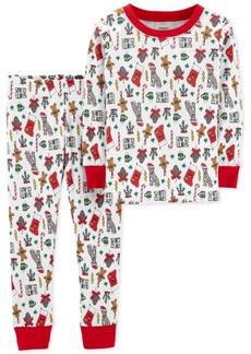 Carter's Toddler Boys Holiday-Print Cotton Pajamas