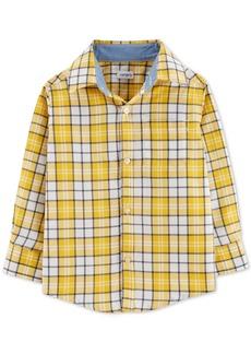Carter's Toddler Boys Plaid Button-Front Cotton Shirt