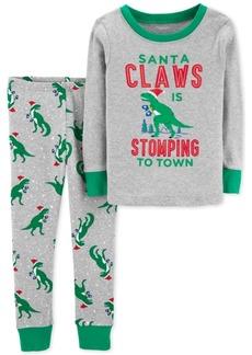 Carter's Toddler Boys Santa Claws Cotton Pajamas