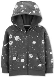 Carter's Toddler Boys Space-Print Zip-Up Fleece Hoodie
