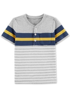 Carter's Toddler Boys Striped Cotton Henley T-Shirt