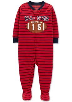 Carter's Toddler Boys Striped Football Fleece Pajamas