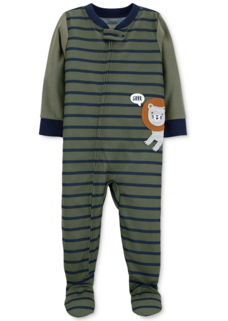 Carter's Toddler Boys Striped Footed Lion Pajamas