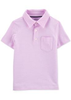 Carter's Toddler Boys Striped Textured Cotton Polo Shirt