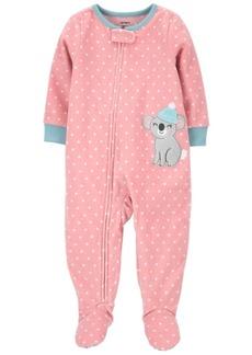 Carter's Toddler Girl 1-Piece Koala Fleece Footie PJs