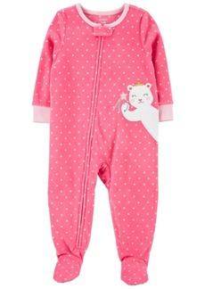 Carter's Toddler Girl 1-Piece Mouse Fleece Footie PJs