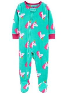 Carter's Toddler Girl 1-Piece Unicorn Fleece Footie PJs
