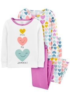 Carter's Toddler Girl 4-Piece Heart Snug Fit Cotton PJs