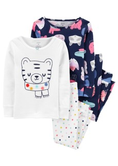 Carter's Toddler Girl 4-Piece 100% Snug Fit Cotton PJs