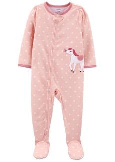 Carter's Toddler Girls 1-Piece Loose Fit Footie Pajamas